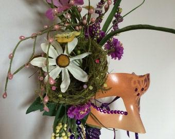 Mardi Gras Mask / Mother Nature Mask / Spring - Summer mask / Birds Nest Mask