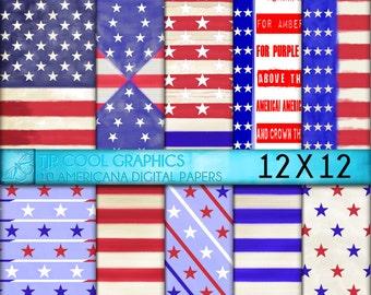 Americana Digital Papers 12X12