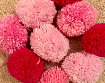 Pretty in Pink pom pom garland