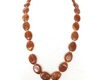 Butterscotch amber bead necklace