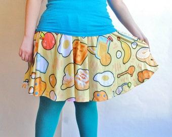 Breakfast Foods Skater Skirt