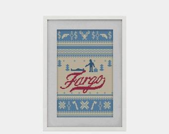 BUY 2 patterns and GET 1 FREE  -- Fargo Mini Series Crossstitch Pattern
