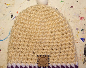 Kind of white crocheted beanie- Ascensor - Free shipping!