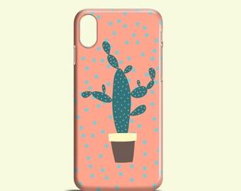 Polkadot Cactus iPhone 8 case / Cute cactus case / Samsung Galaxy / iPhone X, iPhone 8, iPhone 7, iPhone SE, iPhone 6/6S, iPhone 5/5S