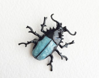 beetle brooch,insect jewelry, scarab beetle, mens brooch, lapel pin, insect, bug, beetle ,cicada jewelry steampunk brooch pin lapel