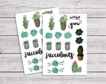 Succulent Sticker Set