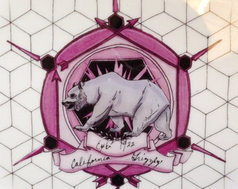 California Grizzly: Commemorative Plate Honoring Extinct Animals (Series No.2)