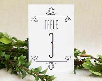 Wedding Table Numbers, Wedding Signs, Wedding Table Decor, Wedding Table Signs, Art Deco Wedding, Table Numbers, Table Number Cards