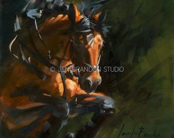 Equestrian Drama Giclée Fine Art Print