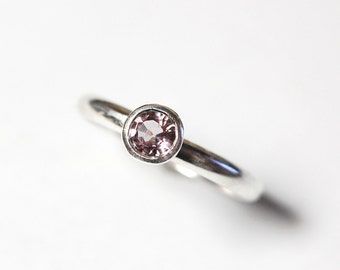 Pink Spinel Ring in Sterling Size 8