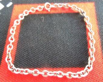"""Sterling Bracelet Vintage 7  1/4"""" Sterling Silver Charm Bracelet from Charmhuntress 04611"""