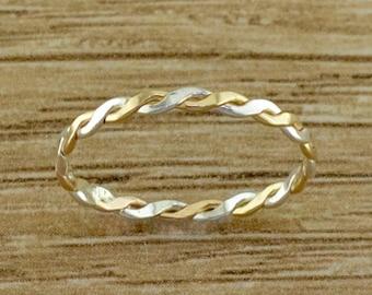 Braid Toe Ring - Toe Rings - Midi Rings -Sterling Toe Rings - Toe Ring - Stacking Rings - Minimalist Ring - Knuckle Rings - Dainty Toe Rings