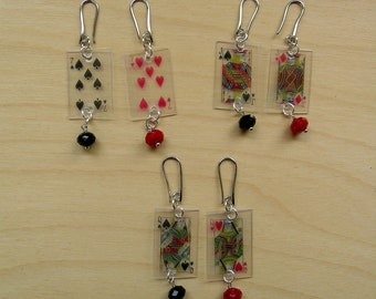 Games, Burraco, lightweight pendant earrings, (transparent, small)