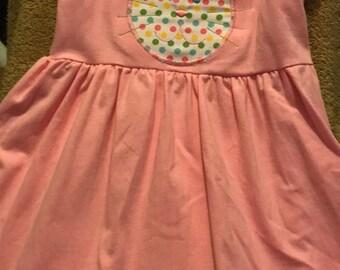 Bunny Dress - Pink - Bunny Applique -