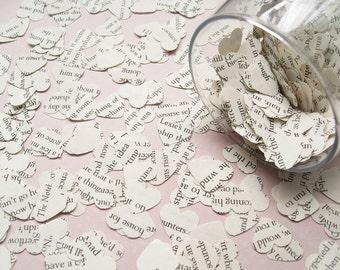 500 Confetti Novel Hearts - 24 choices include The Great Gatsby, Alice in Wonderland, Harry Potter, Shakespeare, Roald Dahl - Wedding Decor