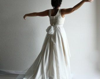 Wedding skirt, Bridal skirt, Bridal Separates, Draped Skirt, Silk Wedding Skirt, Wedding Skirt with Train, Ombre Wedding Skirt, Tulle Skirt