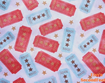 Vintage Tickets - Hallmark for David Textiles - 100% Cotton Fabric - 1 yard - more for one cut