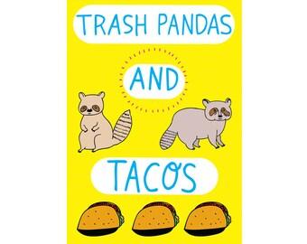 Greeting Card - Trash Pandas And Tacos