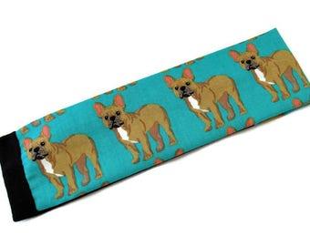French Bulldog Headband - Yoga Headband - Workout Headband - Fitness Headband - Running Headband - Hair Accessory - Dog Lover - Gift for her