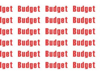 Budget Wordy Icons WI0058