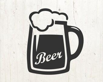 Beer mug SVG, beer svg, Cinco De Mayo SVG, beer glass svg, drink svg, beer clip art | svg png eps jpg dfx | Cricut or silhouette