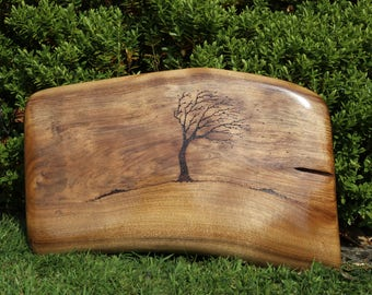Tree of life Handmade plaque with beautiful pyrography design