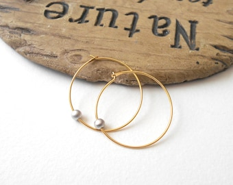 Hoop Earrings, Hoop Earrings Gold, Hoop Earrings with Charm, Gold Hoop Earrings, Tiny Gold Hoop Earrings, Kids Earrings