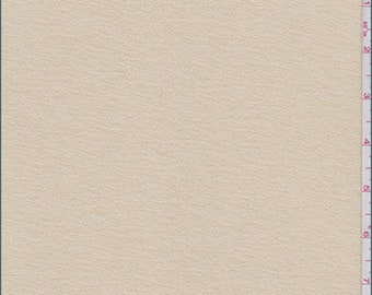 Golden Beige Polyester Pebble Knit, Fabric By The Yard