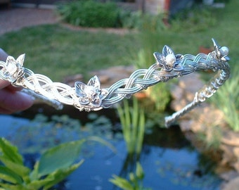 Elven Mithril Ivy Leaf Circlet Costume Crown Tiara Cosplay Headdress