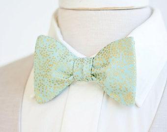 Bow Ties, Bow Tie, Bowties, Mens Bow Ties, Freestyle Bow Ties, Self-Tie Bow Ties, Groomsmen, Wedding Ties, Rifle Paper Co - Champagne Mint