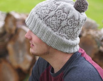 Hand knitting hat pattern- Owl You See Me, Owl You Don't