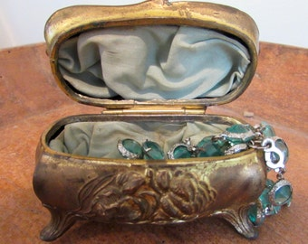 Art Nouveau Gold Gilt Jewelry Box Casket