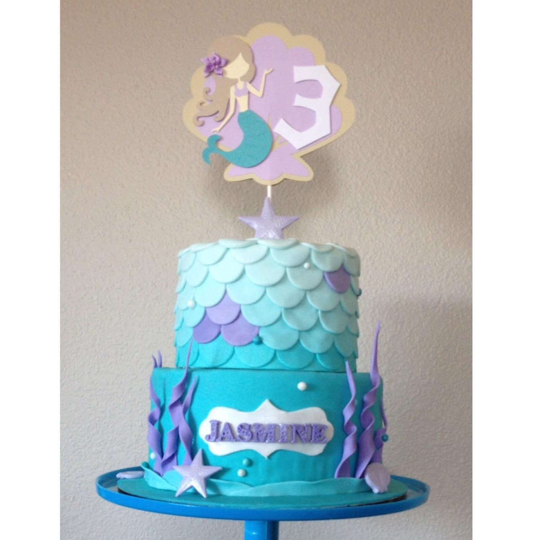 mermaid birthday cake topper the sea mermaid cake smash cake socal