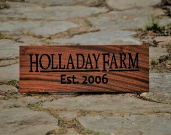 Farm Sign Custom Wood Sign Personalized Family Name Signs Last Name Customize Farm Sign Personalized Wood Name Outdoor Sign Farmhouse Farmer
