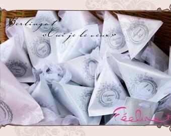 Customizable, original, sweets lozenge Feeline creation berlingot berlingots
