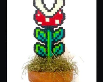 8-Bit Super Mario Piranha Plant (Perler Beads)