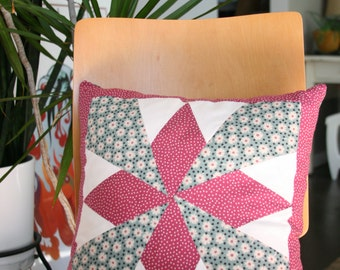 "Star Pillow- Kapok Pillow Form Included 13""X13"""