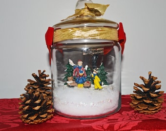 Christmas Diorama, Christmas Miniature, Christmas Village,Table Decoration, Christmas Trees, Ready to Ship!