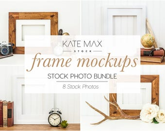 Frame Mockups Styled Stock Photo / Product Mockup / 8 Styled Stock Photography / KateMaxStock Photography