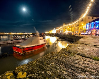 """A4 photo print """"In for the night"""" Boat docked in Dungarvan Co.Cork"""