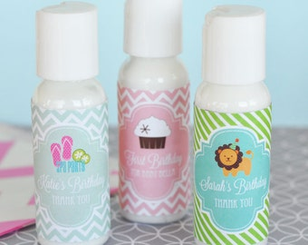 Kids Spa Party Favors - Spa Birthday Party Favors - Personalized Lotion - Spa Party Favors Girl Birthday Party Favors (EB4010MDK) set of 12|
