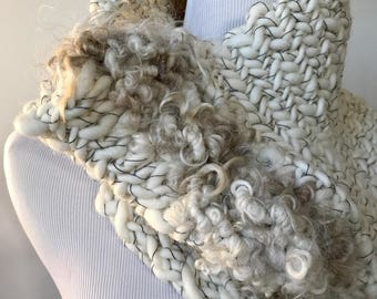 Luxury Handmade Art Yarn Cowl