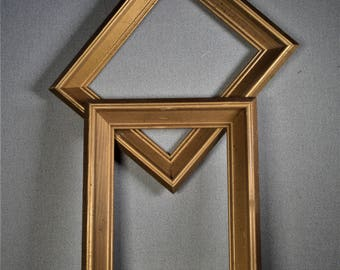 8x10 Frames Scoop Gold Wood Two Available Wood with Optional Glass and Matting Complete Kit