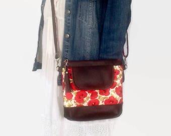 Cross Body Bag, Messenger Bag, Jasmine Sling Bag, Shoulder Bag, Poppy, Floral Bag, Purse, Hobo Bag, Boho, Festival, Gifts for Her