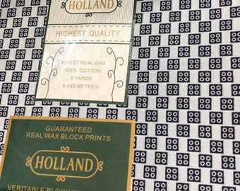 6 yards Holland Highest Quality Print