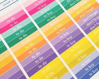 72 Sweet Header Planner Stickers- Box Title Stickers- perfect in your Erin Condren, Plum Paper, wall calendar or scrapbook