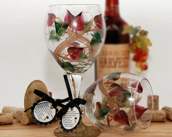 Hand painted wine glasses and other painted by JudiPaintedit