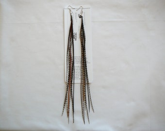 Elegant   Grizzly Varient  Tassel  Feather Earings ....... By TheMyCollection2