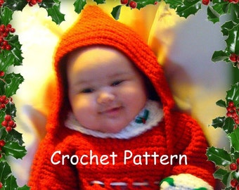 Easy Hooded Hat Infants to Adult Sizes Crochet Pattern PDF 460