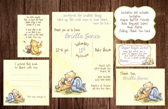 Printable winnie the pooh baby shower story book baby shower like this item filmwisefo Images